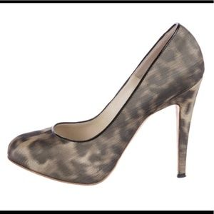 Brian Atwood Animal Print Pumps - Size 37.5